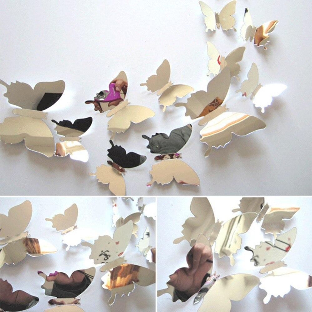 Origami Supertechcrowntower Org 12pcs Pvc 3d Butterfly Wall Decor Cute Butterflies Stickers
