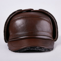 elderly Lei Feng hat men winter outdoor thick warm ear Leather Hat Cap old cow