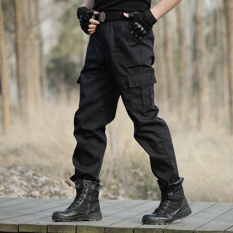 Black Military Tactical Cargo Pants Men Army Tactical Sweatpants High Quality Black Working Men Pant Clothing Pantalon Homme CS