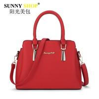 SUNNY SHOP Fashion Women Bags Handbags High Quality Pu Leather Shoulder Bag Female Zipper Messenger Bag