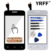 Touch Panel Lens Sensor Capacitive Touchscreen For FLY IQ434 IQ 434 Touch Screen Digitizer Front Glass Parts + Adhesive TrackNo