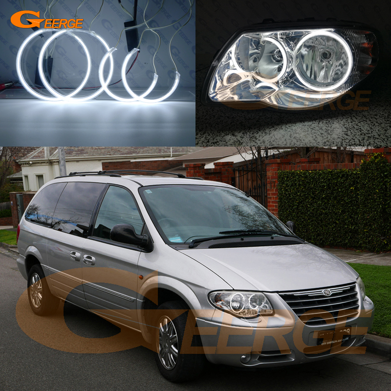 For Chrysler Voyager Grand Voyager 2005 2006 2007 Excellent Angel Eyes Ultra bright illumination CCFL angel eyes kit for chrysler pacifica 2007 2008 halogen headlight excellent angel eyes ultra bright illumination ccfl angel eyes kit