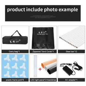 Image 5 - CY софтбокс для фотостудии, 60*60 см светодиодный софтбокс для фотосъемки, мягкая коробка + переносная сумка + адаптер переменного тока для ювелирных изделий, игрушек, обуви