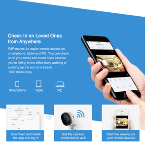 Image 5 - SANNCE cámara IP de ojo de pez 1080P, 3 piezas, inalámbrica, Wifi, minicámara de seguridad para el hogar, 2MP HD de visión nocturna, IR, corte, Wi Fi, Monitor para bebés