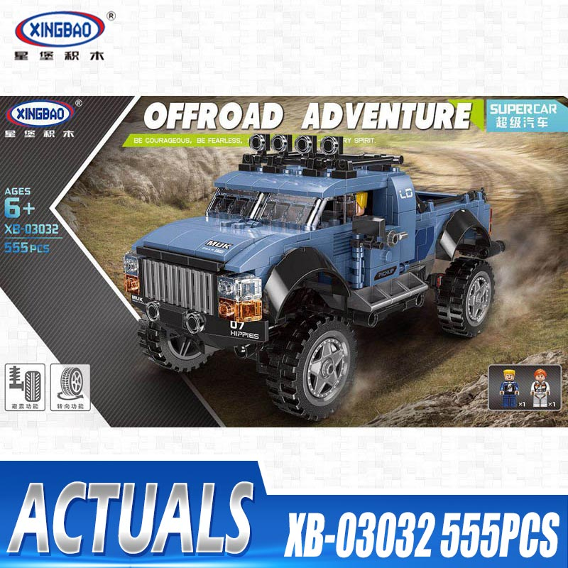 XINGBAO 03032 Assembly Car Toys The Pick Up Car Set Building Blocks Bricks New Kid Toys Car Model Toys Christmas Birthday Gifts