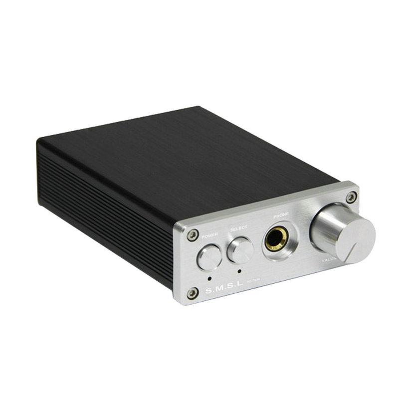 SMSL SD793-II Headphone Amplifier PCM1793 DIR9001 DAC Digital Audio Decoder Amplifier Optical Coaxial Input Black Silver smsl a8 hifi audio digital power amplifier dac headphone amp decoder xmos solution icepower 125wx2 module ak4490 supports pcm