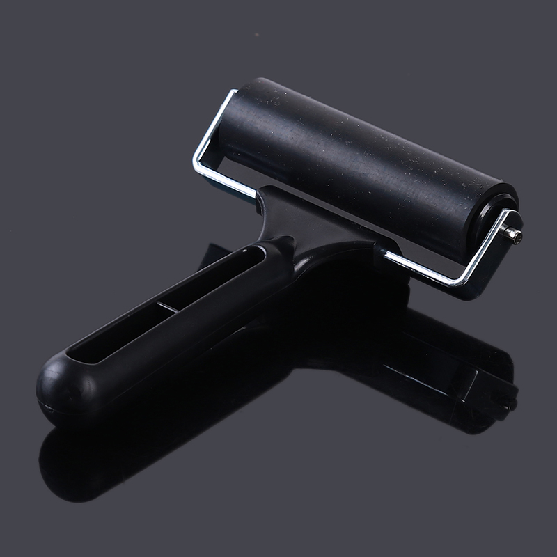 Black Professional Brayer Ink Painting Printmaking Roller Art Stamping Tool Refined Tough Rubber Roller Painting Tools