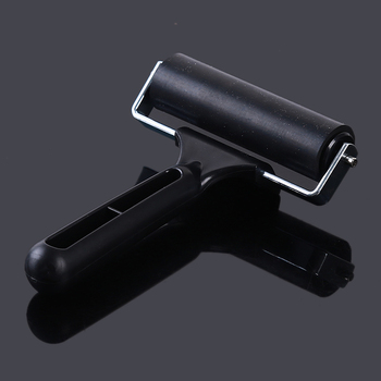 Black Professional Brayer Ink Painting Printmaking Roller Art Stamping Tool Refined Tough Rubber Roller Painting Tools stamping brayer art clay tools for craft 3 5x8x11cm non stick roller pin clay roller pottery rolling pin modelling tool