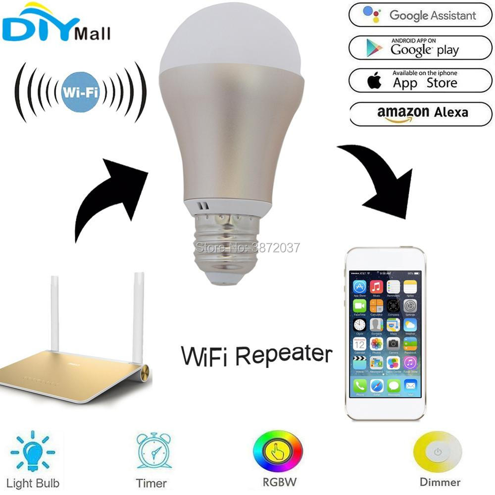 US $13 84 |E27 Wifi Smart Bulb Lamp Light ESP8266 WiFi Repeater Router  Booster Amplifier for 2 4G Router IOS Android APP Echo Alexa Google-in Home