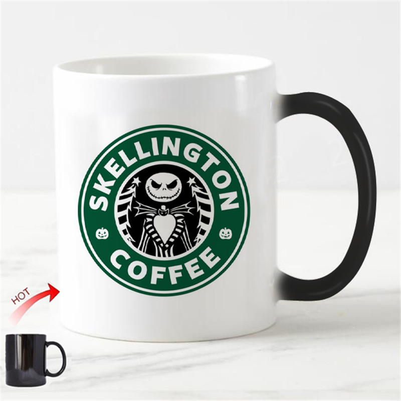 Nightmare Before Christmas Coffee Mug.Us 13 71 8 Off Novelty Christmas Mug Nightmare Before Christmas Chameleon Cup Jack Skellington Coffee Mug Creative Xmas Halloween Magic Cup Gif In