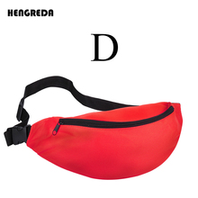 2018 Fanny Pack for Women Men Waist Bag Colorful Unisex Waistbag Belt Bag Zipper Pouch Packs 110cm Belt Length Factory OEM
