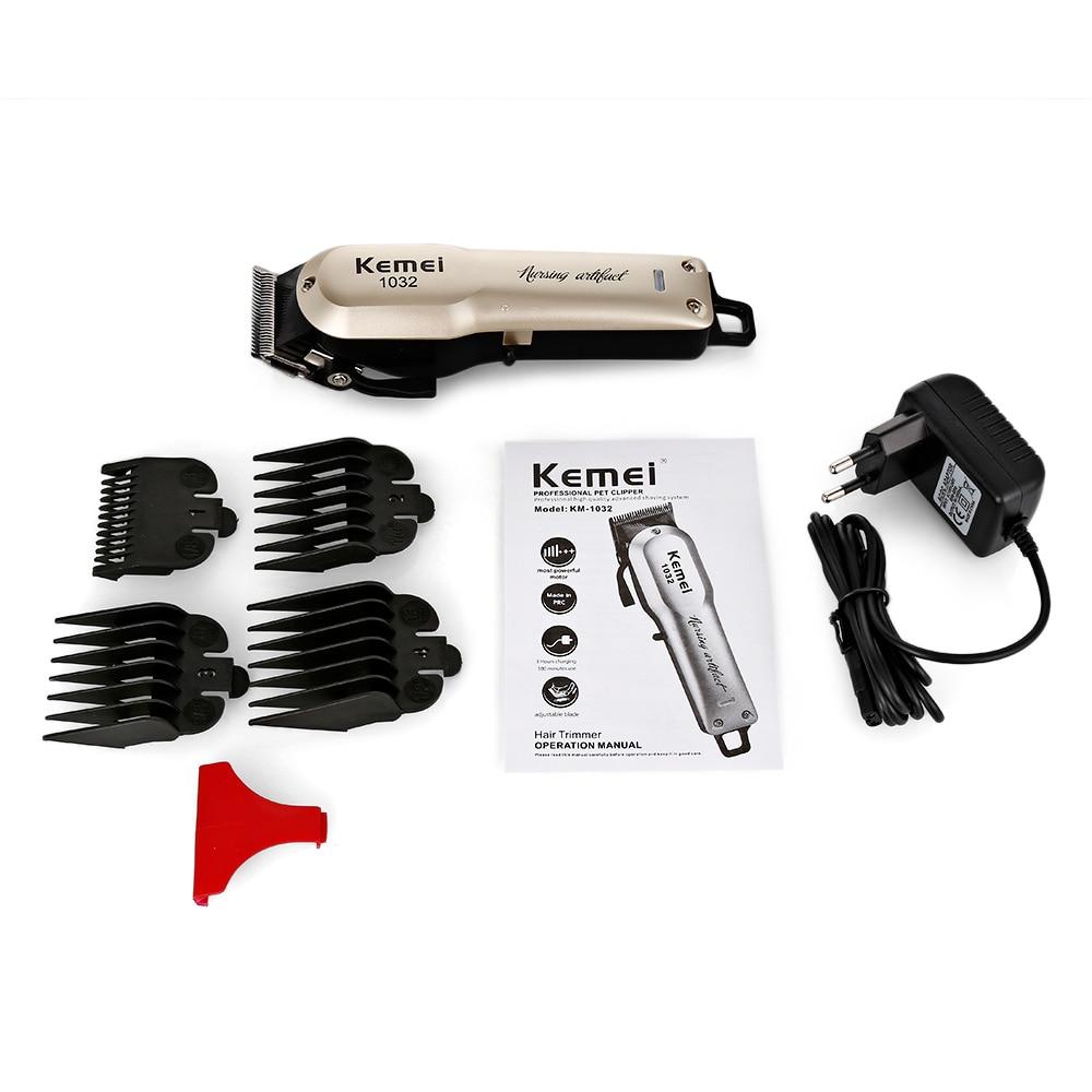 Kemei KM 1032 волос триммер для бороды перезаряжаемые электрический лезвие  машинки для стрижки волос беспроводной резка машины с расчёски и гребни  купить на ...