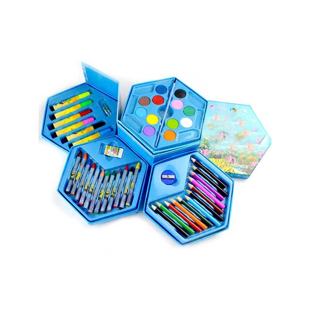 Heißer 46 Pcs Farben Malerei Graffiti Pinsel Set Kunst Spielzeug Sets Zeichnung Malerei Bleistift Schreibwaren