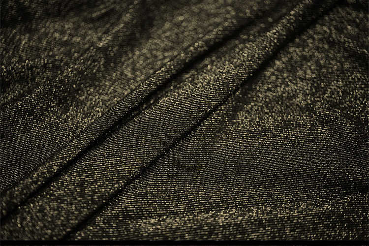 58c5766beeb ... Evening Dress Gowns Material Stretch Cotton Linen Jersey Black With  Gold Metallic Knit Fabric ...
