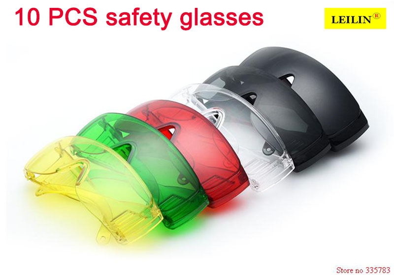 все цены на 10PCS Saftey Welding Goggles Safety Works Safety Glasses anti-dust protective goggle lab safety goggles Anti Fog free