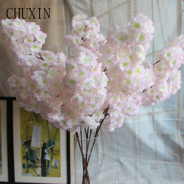 113cm Silk Artificial Flowers Encrypted Cherry Blossom Wedding Home Decoration Fake Flower Ping Mall Party Garden