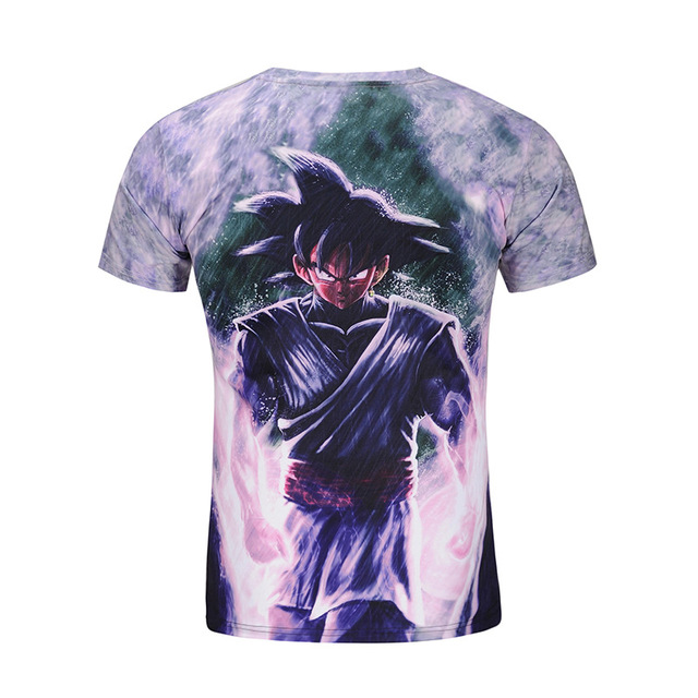 Mr.1991INC&Miss.GO new arrival Dragon Ball Z T-Shirts Summer tops big kid 3D t-shirt short sleeve DBZ T shirt Men's Clothing