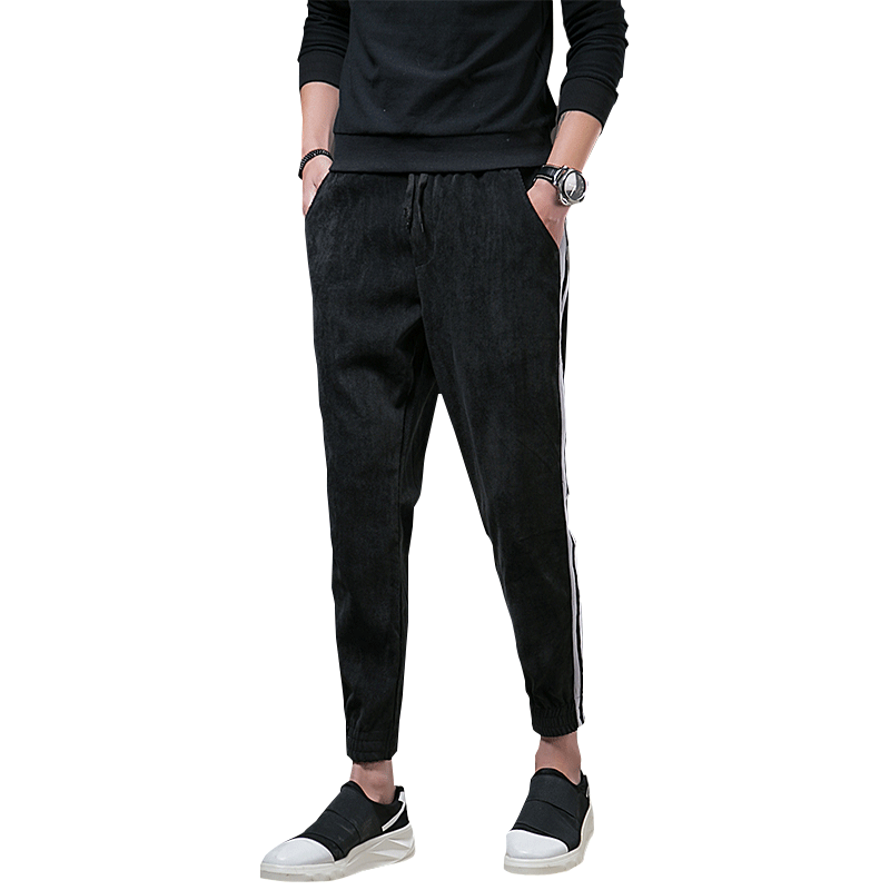 Mens Casual Pants Slim Fit Male Jogger Sweatpants Quickly Dry Working Men Exercise Physical Straight Trousers Stripe Streetwear