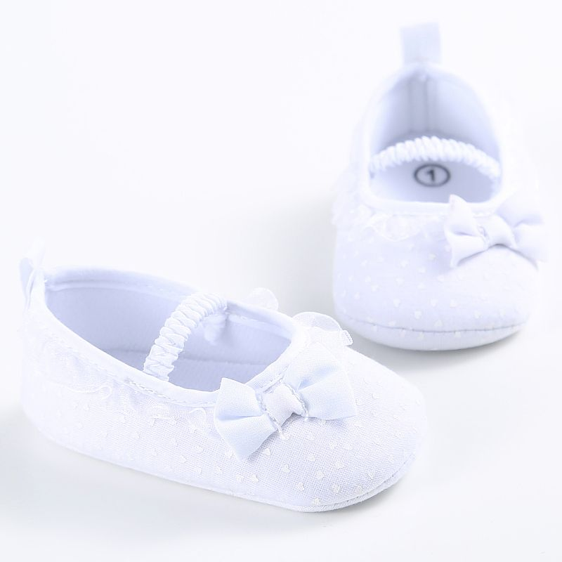 Lace Newborn Baby Girls Sweet Cute Solid Color Shoes Princess Shallow Ankle Sneakers Soft Crib Shoes