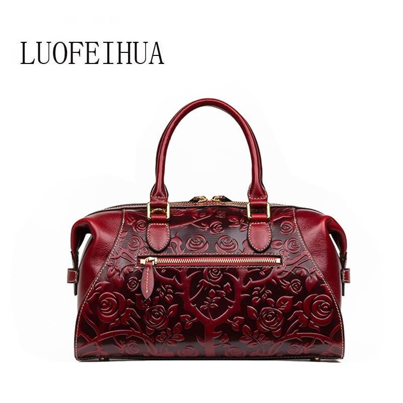Schulter Stil Geprägte Leder Ethnischen Red Marke Umhängetasche Tasche Frauen 2019 brown Designer Neue Luxus Ursprünglichen wRSzZw