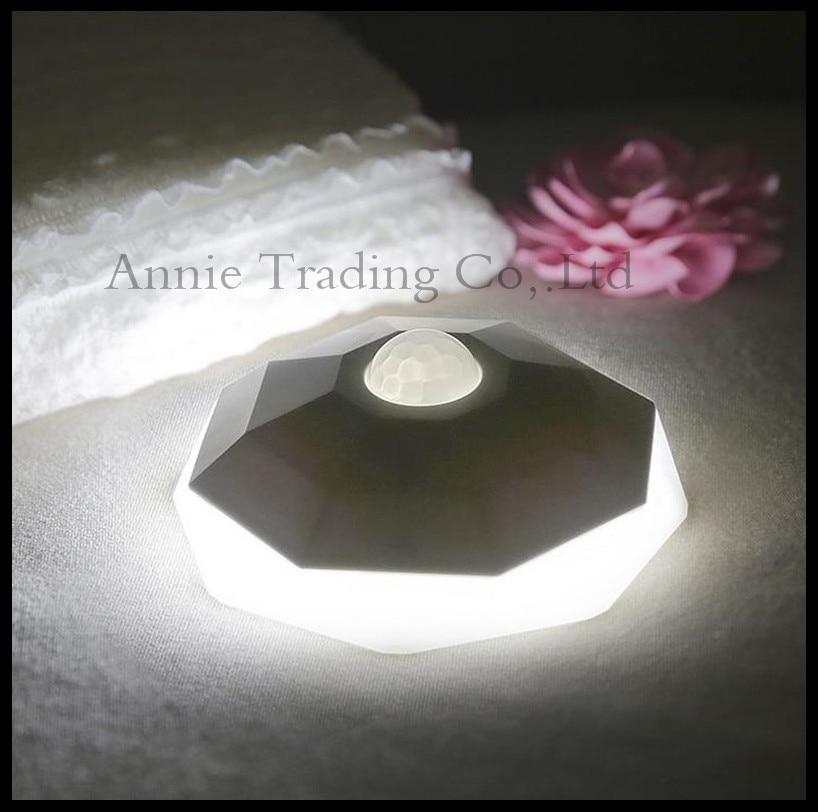 Diamond body sensor night light LED Motion Sensor control USB charging Nightlight hallway entrance hallway room home stick lamps