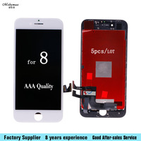 5 Pcs Grade AAA Quality Glass Screen For IPhone 8 LCD Display Screen Replacement Lens Pantalla