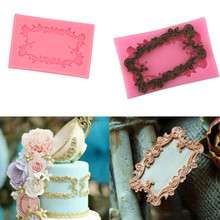 Dropshipping Vintage Mirror Frame Silicone Fondant Mould Cake Decor Ic
