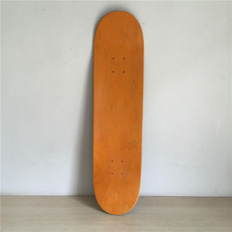 8inchPro Blank Orange And Black Maple Decks Skateboarding Decks 8