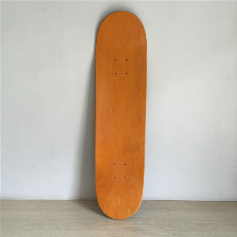 "8inchPro Blank Orange and Black maple decks Skateboarding Decks 8""x32"""" Canadian Maple Street  deck  quality better than Element"