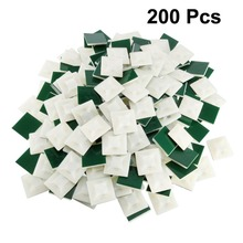 Uxcell 200pcs/lot 21x21mm Self Adhesive Cable Tie Mounts Wire Base Holders Fit Cable Width 4.5mm Adjustable Cable Fixing Base 100pcs 20x20mm self adhesive cable wire zip tie mounts mounting base clamps clip w310