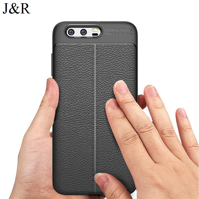 J & R чехол для Huawei Honor 9 мягкая задняя крышка ТПУ Силиконовые Чехол защитный В виде ракушки ультра тонкая кожа личи узор 5.15