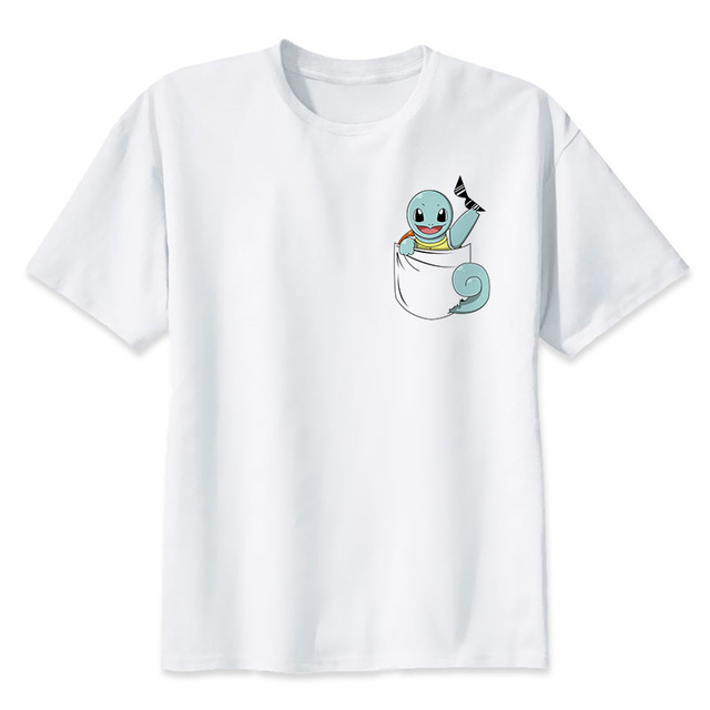 e1658704 Summer New Pokemon go T Shirt Anime Pika Men T-Shirts Pikachu Boy T Shirt  men Short Sleeve Boy Cartoon Tees Tops