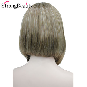Image 3 - StrongBeauty Half Ladies 3/4 Wig With Headband Straight Synthetic Capless Hair Women Wigs 10 Colors