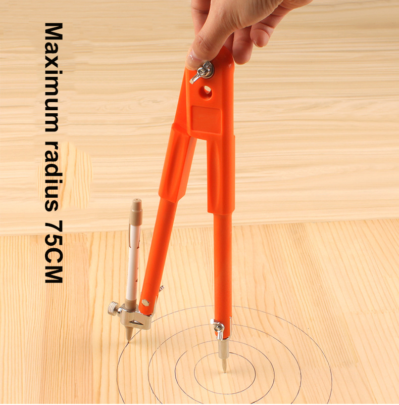 1Pcs wood  working tools circular marking tool  woodworking compass  industrial large line gauge  multi-function circle  scribe