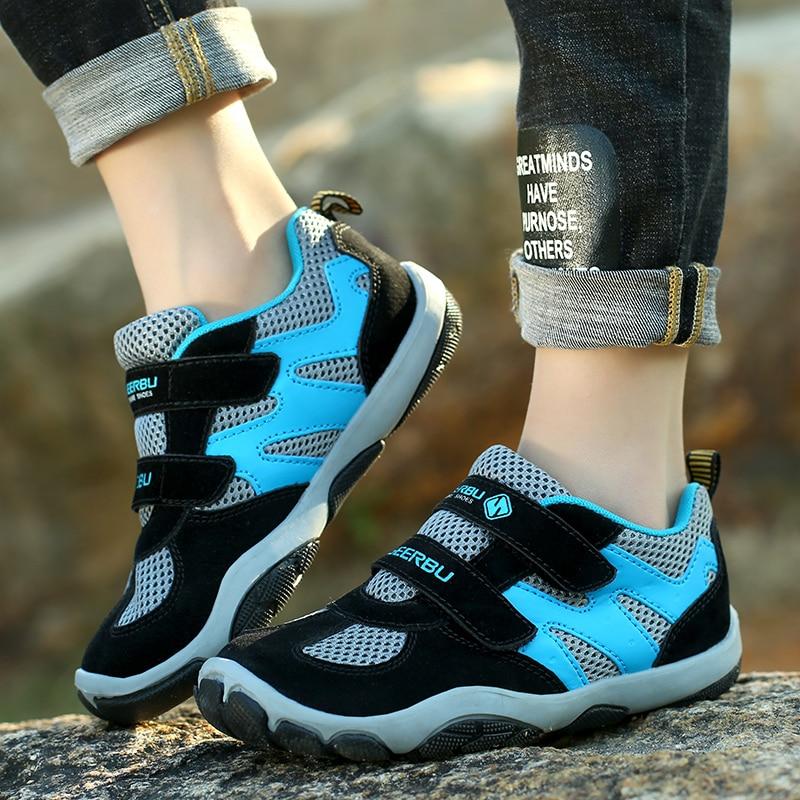 ULKNN Boys And Girls Sport Shoes For Boys Sneakers Children Breathable Mesh Trainer School Running Outdoor Anti-slippery
