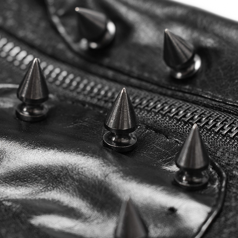 Черные кожаные перчатки без пальцев в стиле панк, готический стиль, женские длинные перчатки для езды на мотоцикле, аксессуары - 2