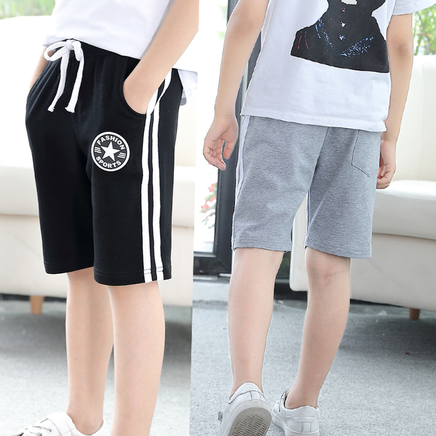 Summer Cotton   Shorts   for Boy Children Casual Letter Print   Short   Pants Teenager Kids Boy Sport   Short   Bottom Beach Trousers