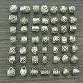 Misture por atacado 49 pcs tibetanos encantos de prata antigo big hole beads para pulseiras Europeus fazer jóias diy suprimentos z42532