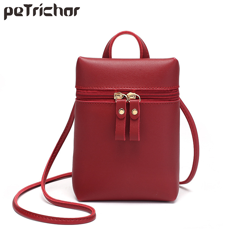 Fashion Small Bucket Messenger Bag Women PU Leather Summer Mini Female Purse Ladies Cell Phone Pocket Shoulder & Crossbody Bags