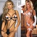 Nova venda frete grátis lingerie sexy branco e preto teddy erotic lingerie mulheres sexy underwear sexy costomes SZ209