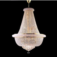 GOLD FRENCH EMPIRE CRYSTAL CHANDELIER Used In KITCHEN DINING LIVING ROOM Free Shipping