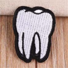 Одежда для девочек самодельная вышивка патчи с белыми зубьями