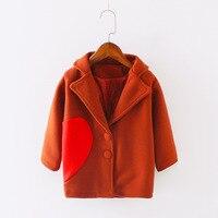 Enfants Automne Vêtements D'hiver Manteau Pour Fille Garçon Nouveau Mode Coréenne Tops Casual Lutte Longue De Laine Chiffons Manteau Enfants Veste