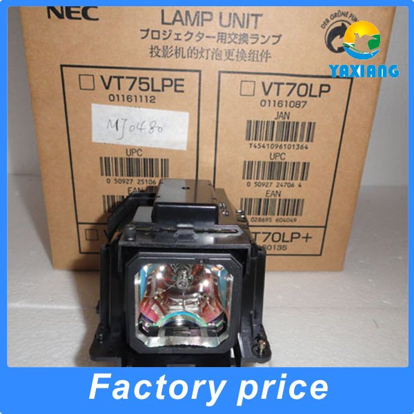 100% Original projector lamp VT70LP with housing for VT37 VT47 VT570 VT575 projectors original projector lamp vt45lpk 50022215