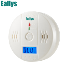 Высокочувствительный домашней безопасности 85dB Предупреждение ЖК-дисплей фотоэлектрический независимый детектор угарного газа Сенсор отравления угарным газом сигнализации детектор