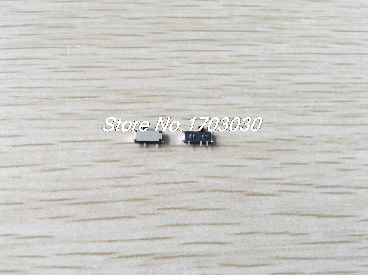 10 PCS DC 50V 0.3A 7 Pin On/On 2 Position 1P2T SPDT SMD Slide Switch Side Knob 10 pcs panel pcb 16 pin 3 position 4p3t mini slide switch side knob 0 5a 50v dc
