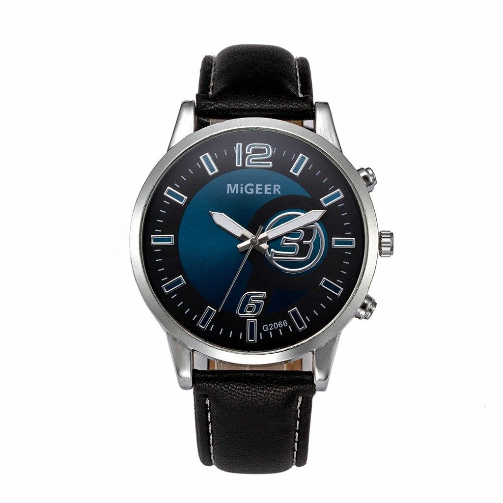 man watch 2018 Classic New Men Watch Wrist Watch Leather Strap Quartz Casual Watches men writstwatch clock #XTN