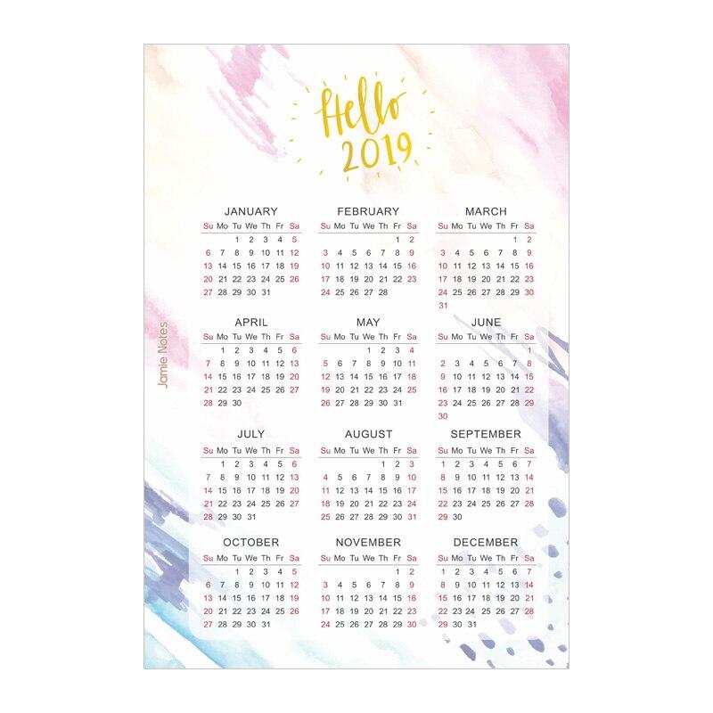 Notebooks & Schreibblöcke Trendmarkierung Jamie Notizen Folie Gold Aquarell 2019 Kalender Binder Notebook Teiler Für Filofax A5a6 Spirale Planer Zubehör Schreibwaren Notebooks
