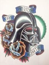 21 X 15 CM Skull Warrior Cool Beauty Tattoo Waterproof Hot Temporary Tattoo Stickers#5