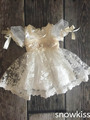 2016 new summer white/ivory lace infant baptism baby christening gowns short princess first communion dresses for girls